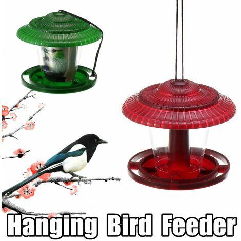 Waterproof Gazebo Hanging Wild Bird Feeder Garden Outdoor Feeder Decoration # Green (Green)