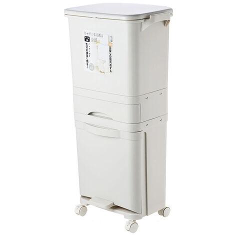 Large capacity bin 38 / 42L Double sorting bin for kitchen bin (42L)