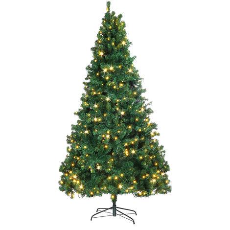 Artificial Christmas Tree Pine Xmas Tree W/ LEDs Lit 7.5FT