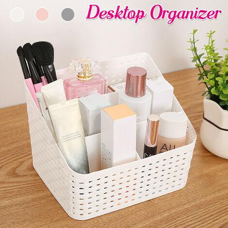 Cosmetic Organizer Solid Desktop Makeup Case Storage Basket Brush Holder (S)
