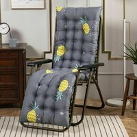 Garden lounge chair lounger cushion long cushion solid solid thicken foldable swivel chair cushion lounge chair sofa seat cushion (type A 155x48x8cm)