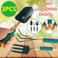 3 Pcs/Set Indoor Plant Pot Gardening Tools Small Shovel/Rake Hand Tool