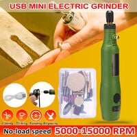 DIY Electric Grinder Set USB DC Variable Speed Cordless Handle Grinding Machine for Carving Engraving Trimming Milling Polishing Tool Kit