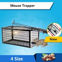 Mouse Live Cage Trap Pest Rodent Animal Hamster Mice Rat Control Catch Bait (S)