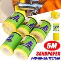 1Pc 5M Sandpaper Roll 40 60 80 120 180 For Wood Paint Handicrafts etc(P80)