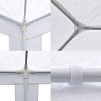 Gazebo With Sides 3x3M White
