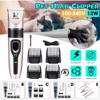 Professional Pet Dog Cat Hair Clipper (Type C)