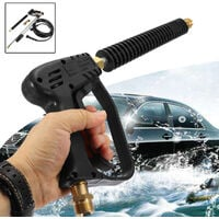 1 set of 10m car high pressure washing guns washing hose washing hose water jet washer with 5 spray nozzles for cleaner watering lawn garden