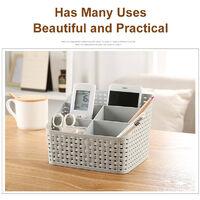 Cosmetic Organizer Solid Desktop Makeup Case Storage Basket Brush Holder Box B