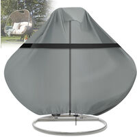 Hanging Swing Egg Chair Cover Garden Patio Outdoor Waterproof Protection Gray