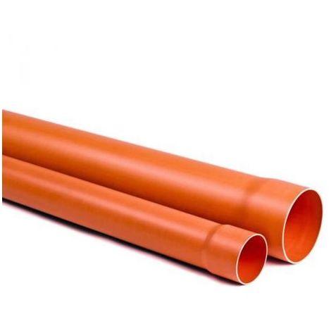 TUBO PVC PLASTICA ROSSA ARANCIO 2 METRI ACQUA FOGNA 40 mm