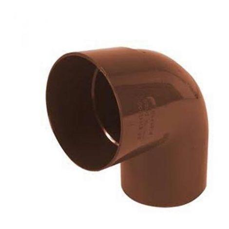 Curva pvc color rame diametro 80 mm 87° chiusa per gronda dakota