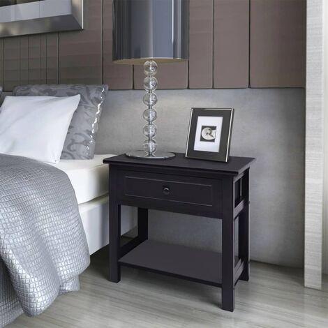 Clem 1 Drawer Bedside Table by Brayden Studio - Black