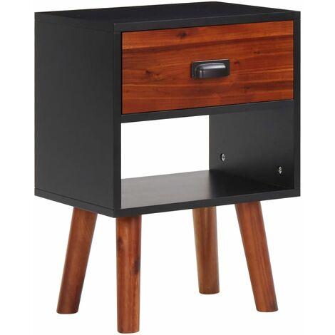 Lenwood 1 Drawer Bedside Table by Brayden Studio - Black