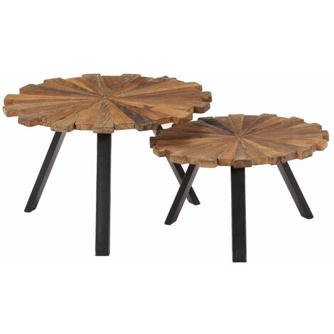 Huey 2 Piece Nest of Tables by Williston Forge - Brown