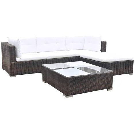 Copeland 4 Seater Rattan Corner Sofa Set by Dakota Fields - Brown