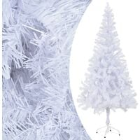 6ft White Pine Artificial Christmas Tree with Stand by The Seasonal Aisle - White
