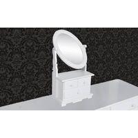 Furlow Dressing Table with Mirror by Fleur De Lis Living - White