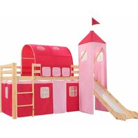 Hardyston European Single Mid Sleeper Bed with Curtain by Zoomie Kids - Pink