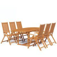Chan 6 Seater Dining Set by Dakota Fields - Brown