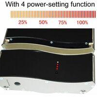 Panel infrarrojo 3200W con telemando cm 209,5x21,5x7 SINED 3200 DESIGN - Negro