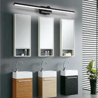 applique Murale Salle de Bains, Intérieur LED miroir salle de bain,8 W, le noir