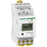 Acti9 iEM - compteur d'energie modulaire monophasé - 230V - 63A, Schneider Electric réf. A9MEM2100