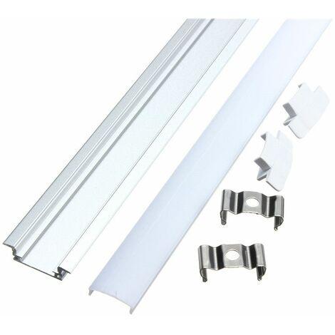 50CM Small aluminum profile for LED strip + rigid cover V LAVENTE