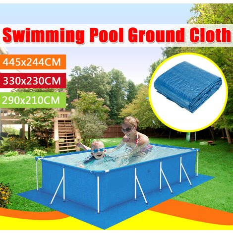 Multiple Size Square Swimming Pool Floor Mat Fabric Lip Cover Dustproof Cloth (Rectangle-445x244cm)