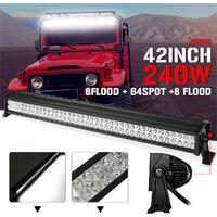 42'' 240w 12v 24v Led Light Bar Flood Spot Work Lamp For Off Road Boat JEEP SUV