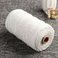 Macrame Cotton Rope 3mmx200m Bohemian Woven Thread Wall Hanging DIY WASHED
