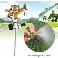 Nozzle Sprinkler 360 Degree Rotating Watering Garden Irrigation Lawn Zinc Alloy WASHING
