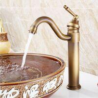 Vintage Style Copper Brass Mixer Tap Bath Kitchen Basin Sink Mono Bloc Faucet