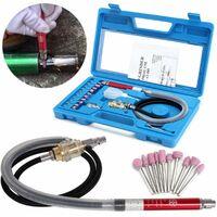 17Pcs Air Grinder Micro Mini Pencil Polishing Rotary Cutting Tool WASHED