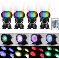 100-240V 50 / 60HZ 36LED blue red green yellow colorful led outdoor diving lights waterproof colorful lighting spotlights aquarium fish tank lights pool lights underwater lights WASHING
