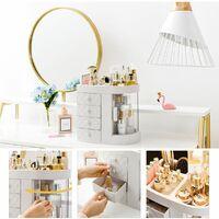 Large Storage Cosmetic Desktop Makeup Organizer Case Holder Display Drawer WASHED