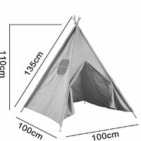 Teepee Tent For Children Indian Play Tent Home Garden 100x100x135cm WAS WASTED