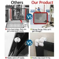 Portable Folding Magic Mesh Gate Guard Security Fences For Dog Puppy WASHED