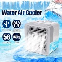 6.5 Inch Personal Mini Water Air Cooler USB Power Humidifier Summer Purifier Portable Air Cooling Fan for Home Office Bedroom WASHING