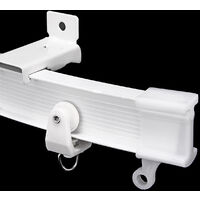 5m White Plastic Bendable Curtain Track for Straight Bay Window Rail Fixing Hook Side clamping