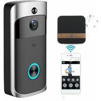 WiFi Doorbell IR Camera Video Security Night Vision Phone Control US SOCKET WASHER
