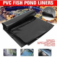 2.5x2.5m to 4x5m fish pond liner reinforced PVC membrane landscaping reinforced HDPE membrane durable garden swimming pools landscaping (3x4m)