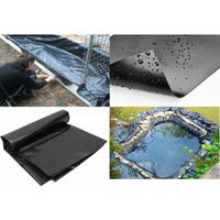 3 * 3M Black HDPE Fish Pool Pond Liner Corrosion / UV Resistance