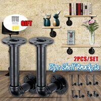 2PCS 65mm Vintage Pipe Shelf Bracket Bracket for Industrial Steampunk (100mm by 210mm)