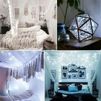 Solar powered strip silver wire light waterproof decoration lamp for christmas tree christmas outdoor indoor garden wedding party decoration (white, wire silver 20M)