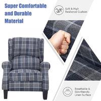 Fabric Recliner Armchair Sofa Chair 102X61X66cm Grey
