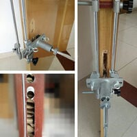 5 Minutes Door Lock Mortiser Jig Kit With Three Cutters