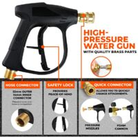 """High Pressure Washer Jet 1/4"""" Foam Spray Car Clean 1L Wash Nozzle Soap Bottle Frothing Pump Household With 3x Towel+1x Sponge+5X Nozzles"""