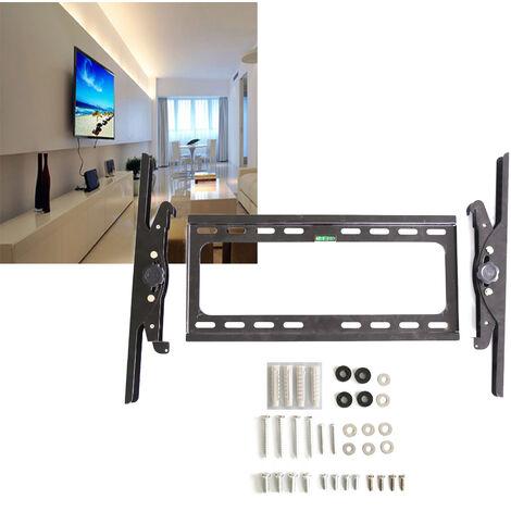 Skecten Support Mural pour Télévision TV Muraux Plats Charge 60kg Ajustable Réglée de 15 Degrés