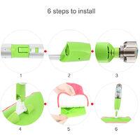 Pico Spray Balai Vaporisation Serpillère en Microfibre Multifonction Mop Spray Pliable Plastique (Vert)
